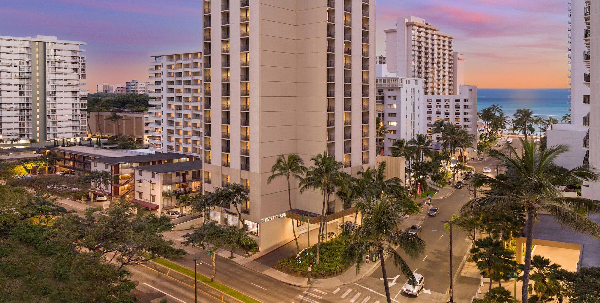Exterior of Hyatt Place Waikiki Beach